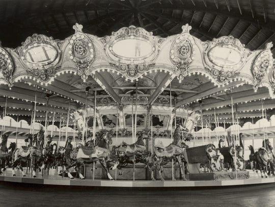 The 1921 Dentzel carousel arrived at Lake Lansing in