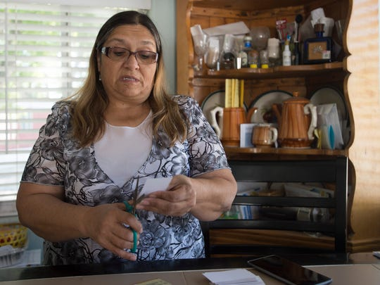Edna Chavez works from her home in Poudre Valley Mobile