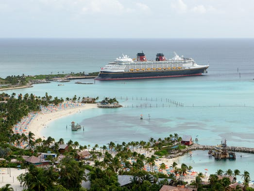 At 83,308 tons, the Disney Wonder is relatively modest