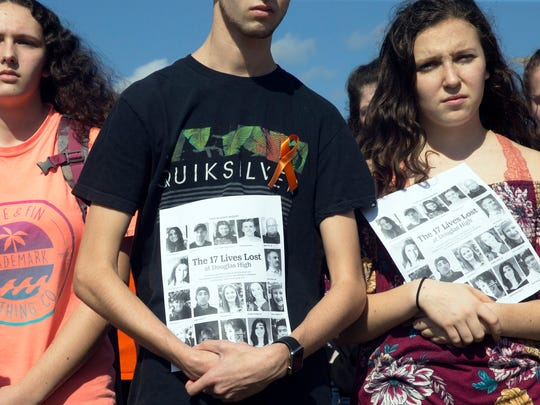 Students at Southern Regional High School in Stafford showed their solidarity with the Parkland Florida students in February by staging a walkout and a short reading about each of the 17 students killed.