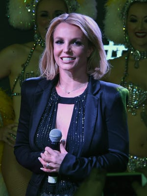 """Britney Spears attends a """"Britney Day"""" event at The LINQ Promenade held to celebrate her Las Vegas residency show """"Britney: Piece of Me"""" on Nov 5, 2014 in Las Vegas."""