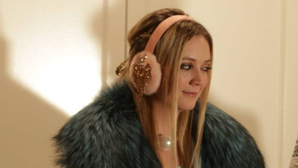But this time she traded the earmuffs for hair danishes.