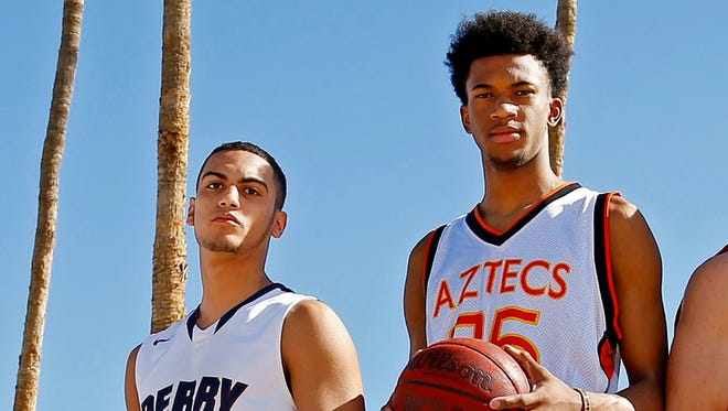 Markus Howard and  Marvin Bagley III were named to the azcentral sports All-Arizona boys basketball team for 2014-15.