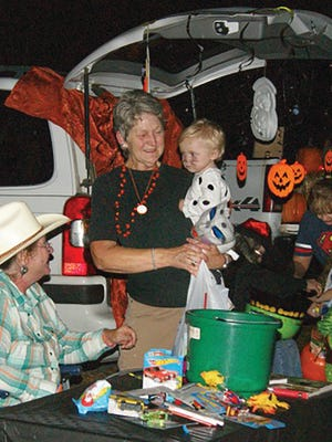 Fairview area youth enjoy Trunk or Treat event at Westview United Methodist Church.