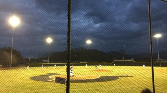 North Buncombe baseball played its first-ever night home game on Tuesday.