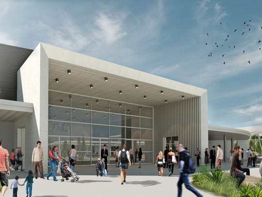This image shows the main entrance to the proposed