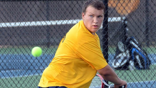 Ryan Curtis and his Hartland teammates fell to Brighton, 8-1, on Tuesday afternoon. It was Hartland's first league meet without former coach Judy Jagdfeld in 36 years.