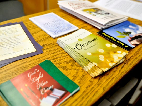 An assortment of holiday pamphlets are available to offenders in the chapel library at the Minnesota Correctional Facility-St. Cloud.