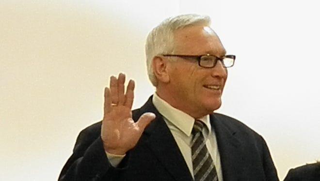 Gerald Turning Sr. is sworn in as Tinton Falls mayor.