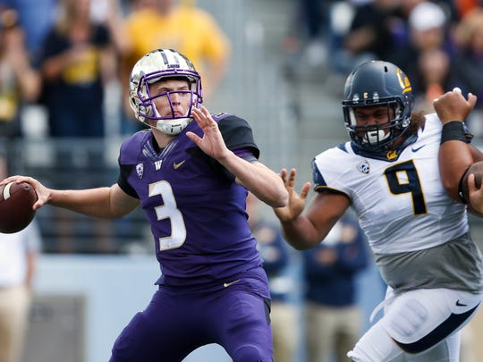 Washington quarterback Jake Browning has passed for 2,671 yards and 16 touchdowns this season.