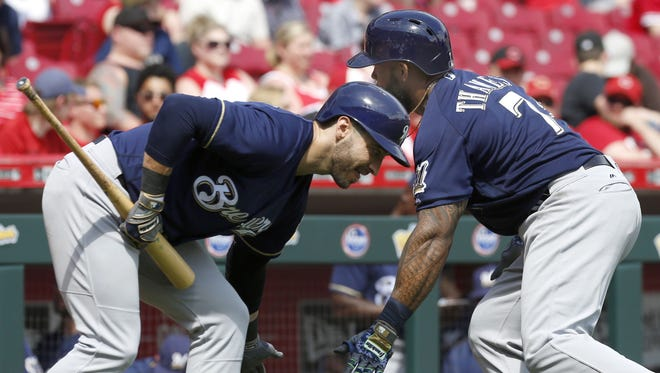 Ryan Braun and Eric Thames are a formidable 1-2 punch for the Brewers.