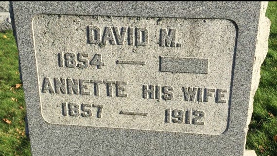 Marker that has no date of death leaves one wondering, what happened?