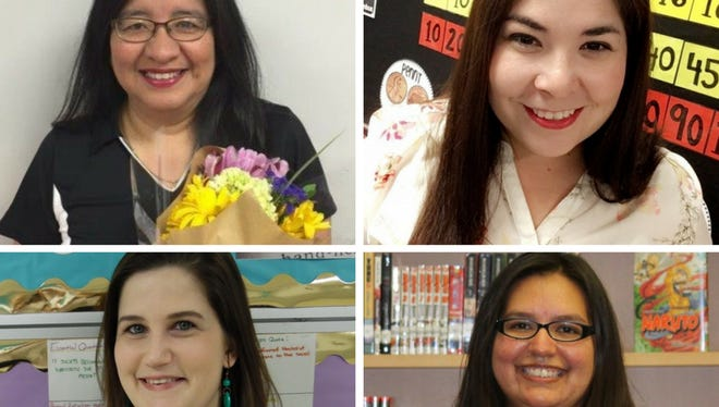 West Oso ISD announced their Teacher of the Year finalists, who are Maria Zuniga, West Oso Elementary School (top row from left); Irma Alonzo, John F. Kennedy Elementary School; Elizabeth Marley, West Oso Junior High School (bottom row from left); and Amanda Salinas, West Oso High School.