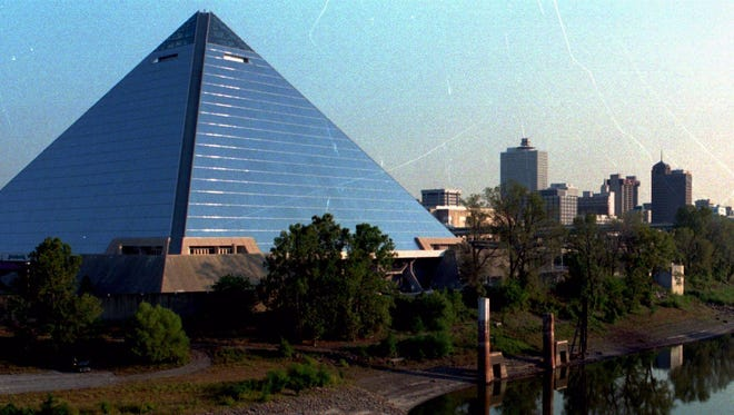 FILE — The Pyramid in downtown Memphis.