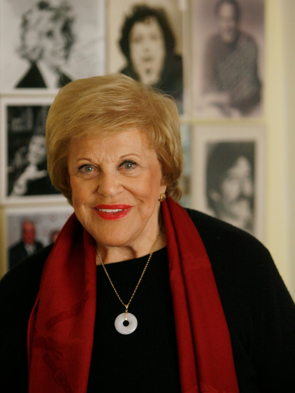 Kaye Ballard posed before an appearance at a Luminary Luncheon benefiting the Coachella Valley Repertory Theatre in her home town of Rancho Mirage.