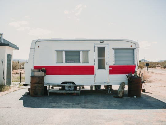 Pop-up shops take place in this camper right outside La Copine restaurant in Flamingo Heights