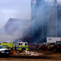 A fire destroyed a shed containing a workshop and storage area Thursday at Eckstein Farms in Winchester. Eight fire departments responded.