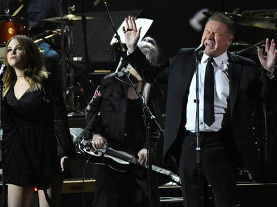 "Don Henley performs ""Free Fallin"" at the MusiCares Person of the Year tribute honoring Tom Petty at the Los Angeles Convention Center on Friday, Feb. 10, 2017."
