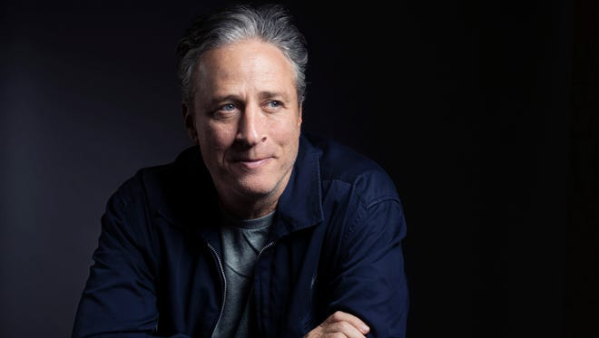 """In this Nov. 7, 2014, photo, Jon Stewart poses for a portrait in promotion of his film,""""Rosewater,"""" in New York."""