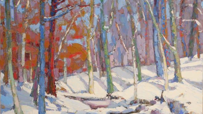 """Woods in snow"" by Tom Keesee"