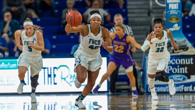 FGCU sophomore forward Tytionia Adderly said the regular-season ASUN champion Eagles are peaking at the right time. Top-seeded FGCU hosts eighth-seeded NJIT in a Friday night ASUN opener.