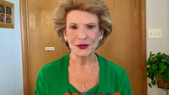 U.S. Sen. Debbie Stabenow, D-Lansing, speaks during a virtual press conference on Monday, Aug. 10. Stabenow announced Michigan's involvement in a federal programmed designed to increase funding for community behavioral health clinics.