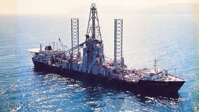 The Hughes Glomar Explorer was a feat of engineering built to snatch up a sunken Russian submarine resting more than 3 miles deep on the ocean floor in 1974.