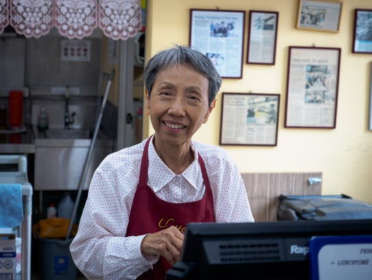 Sally Chung at Chatters, a small café in the lobby
