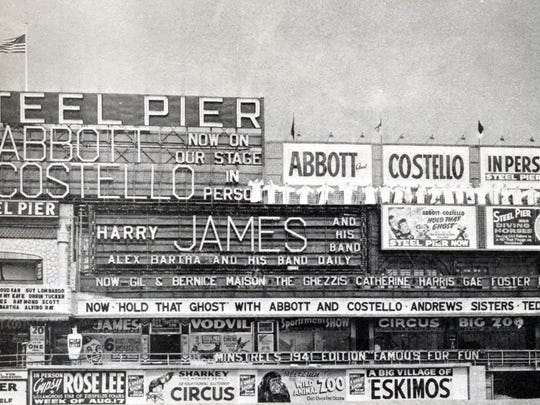Abbott and Costello playing Atlantic City's Steel Pier when they hit the big time in 1941.