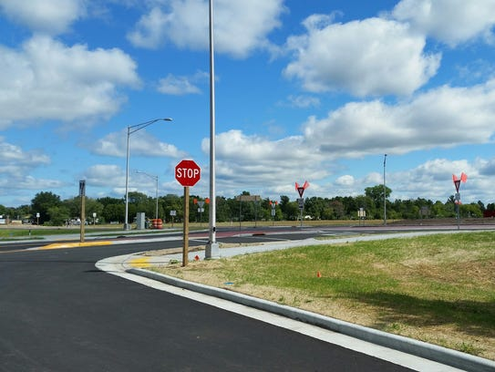 County 39 s 1st roundabout opens next week for Department of motor vehicles stevens point wisconsin