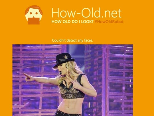 The website said it couldn't detect Britney Spears'