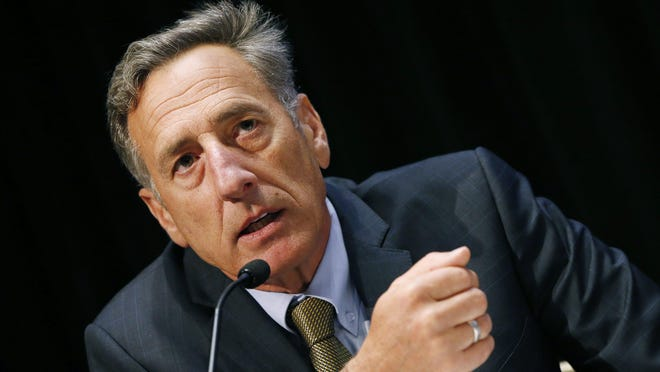 Vermont Gov. Peter Shumlin speaks during an opioid abuse conference Tuesday, June 7, 2016, in Boston. (AP Photo/Michael Dwyer)