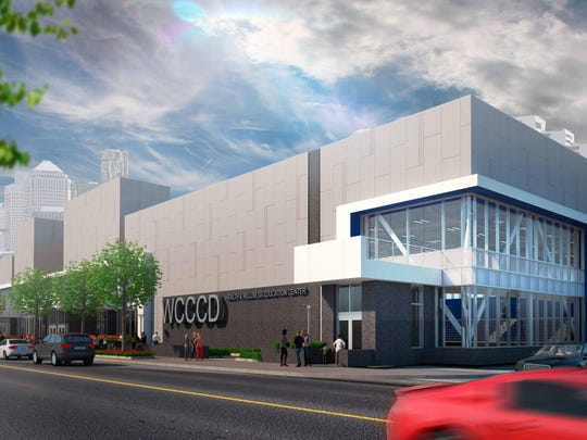 """The City Center project, on Fort Street and Howard, is the final construction project in the district's 20-year """"Pathways to Transformation"""" strategic plan. The building will sit next to the WCCCD Downtown Campus and is expected to be complete in spring 2019."""