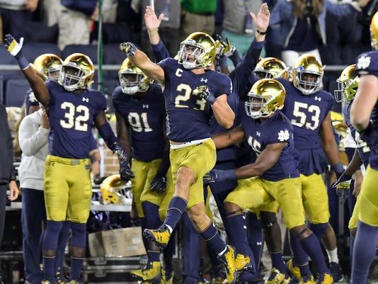 NCAA Football: Georgia at Notre Dame
