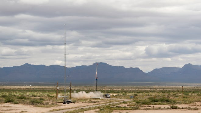 The Lion III launched from West Center 50 out at White Sands Missile Range. The rocket belonged to Union Grove High School and was the first successful launch in three years for the high school.