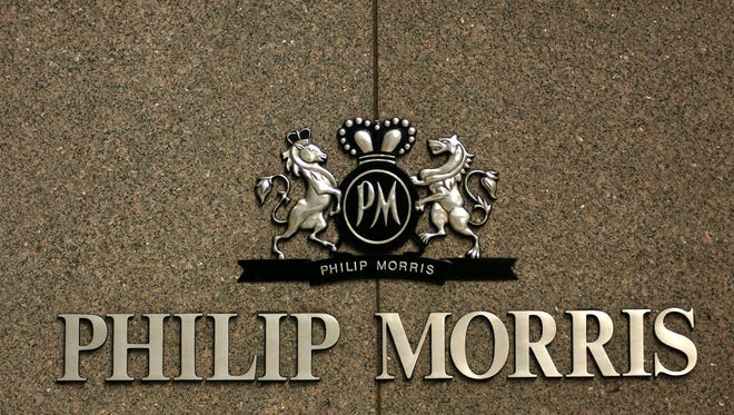 The Philip Morris logo adorns the outside of the company's New York headquarters