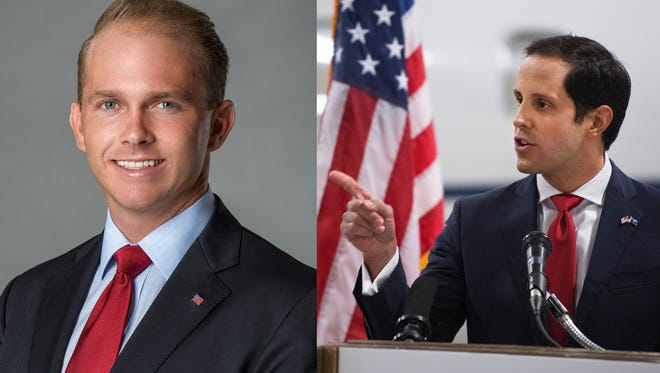 State Sen. William Timmons, left, and former Spartanburg County Republican Party Chairman Josh Kimbrell are airing TV ads in the race for South Carolina's 4th Congressional District seat.