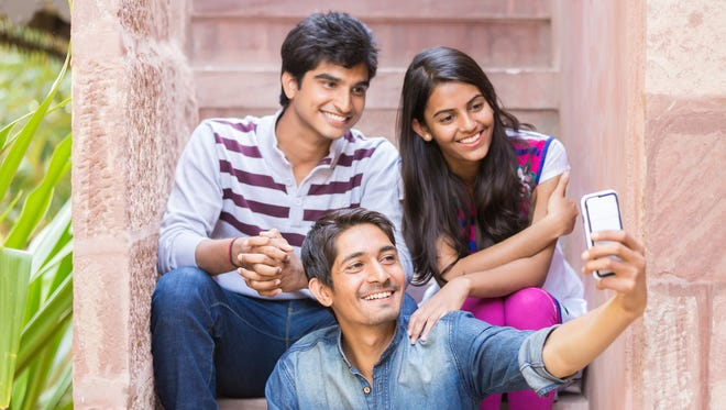 Cool indian young people - siblings