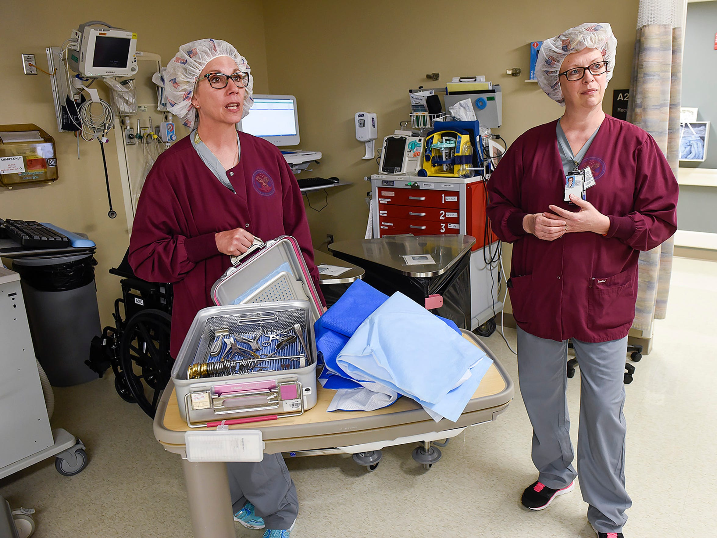 Jody Wessel, certified surgical technician, and Brenda
