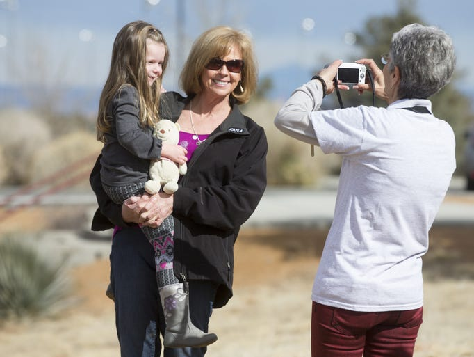 Marsha Mueller poses with her granddaughter, Lexi,