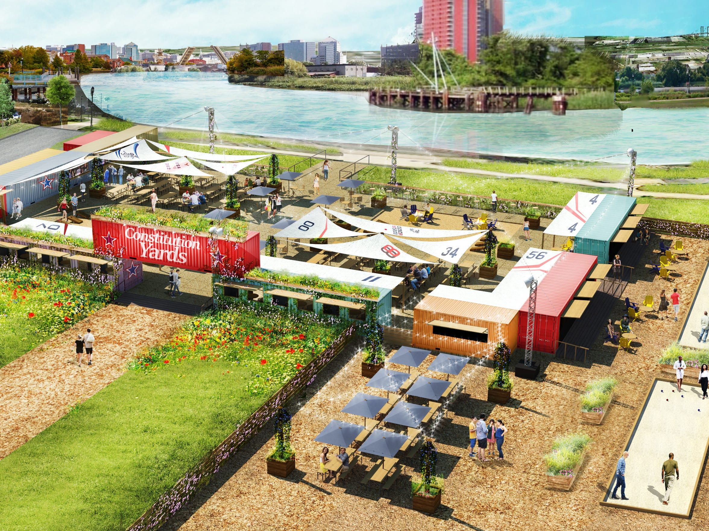 The new Constitution Yards Beer Garden is expected to open on Wilmington's Riverfront later this month.
