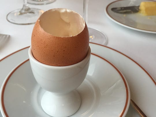 The famous egg at Arpège restaurant in Paris unites hot and cold, sweet and savory.