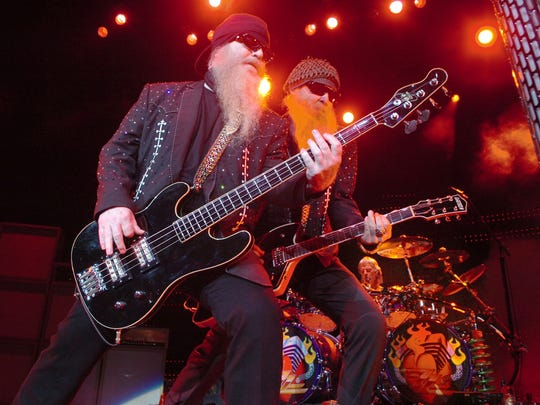 Texas rock legends Dusty Hill, left, Billy Gibbons and Frank Beard of ZZ Top wowed the crowd at Kay Yeager Coliseum in this file photograph from 2007. The band will return to town May 13.