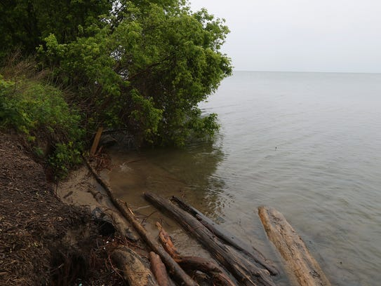 Lake Ontario levels are so high that there is no beach