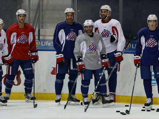 Former Buffalo Sabres captain, Brian Gionta, has practiced with the Amerks since October in preparation for the Olympics.