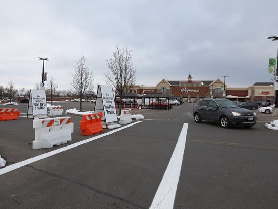 A new configuration at the Wegmans on East Avenue is