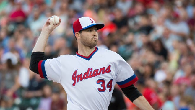 Tribe pitcher Drew Hutchison was dominant in the Indians' 1-0 win over the Louisville Bats on Saturday at Victory Field.