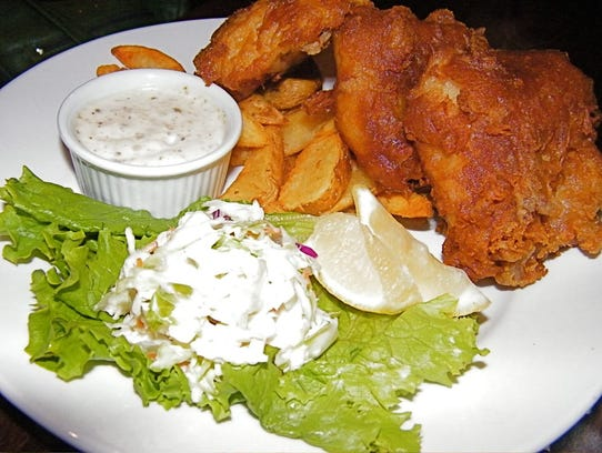 Guinness Battered Fish and Chips at Irish Wolfhound