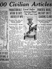 May 5, 1942 edition of The Evansville Courier.