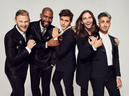 "The Fab Five of the new ""Queer Eye': Bobby Berk, Karamo Brown, Antoni Porowski, Jonathan Van Ness and Tan France."